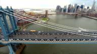 Aerial video Manhattan Bridge NY video