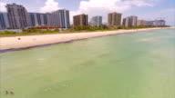 Aerial video Miami Beach 180 turn video