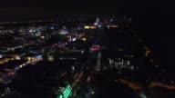 Aerial video Miami Beach at night video