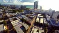 Aerial video Miami Beach USA video