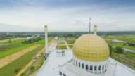 aerial video mosque in Thailand video