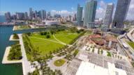 Aerial video Museum Park Miami video