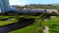 Aerial video of a golf course in Hallandale FL video