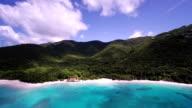 aerial video of Cinnamon Bay, St.John, US Virgin Islands video