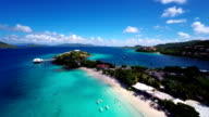 aerial video of Coki Beach, St.Thomas, US Virgin Islands video