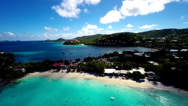 aerial video of Coki Beach, St.Thomas, US Virgin Islands video