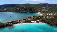 aerial video of Coki Point, St.Thomas, US Virgin Islands video