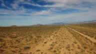 Aerial video of desert landscape video