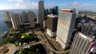 Aerial video of Downtown Miami video