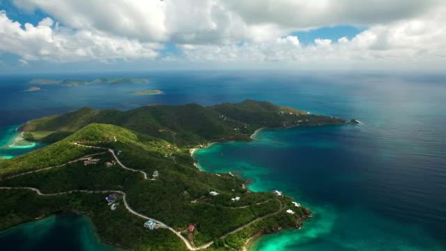 aerial video of East End, St.John, US Virgin Islands video