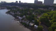 Aerial video of Edgewater Fort Lee New Jersey video