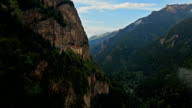 Aerial Video of Extraordinary Hanging Mountain Monastery video
