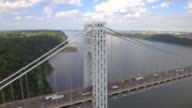 Aerial video of George Washington Bridge video