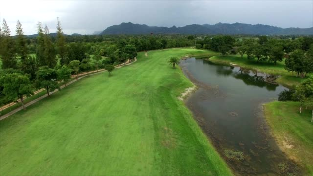 aerial video of golf course video