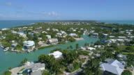 Aerial video of homes in the Florida Keys video