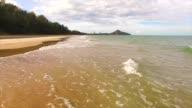 aerial video of hua hin beach at summer in thailand video