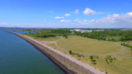 Aerial video of Liberty State Park Jersey City video