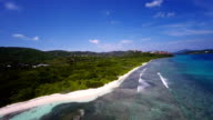 aerial video of Lindquist Beach, St.Thomas, US Virgin Islands video