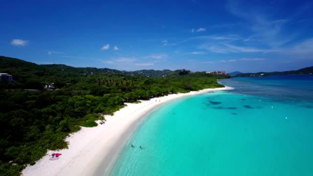 aerial video of Lindquist Beach, St.Thomas, US Virgin Islands video