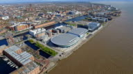 Aerial Video of Liverpool City Footage 4K video