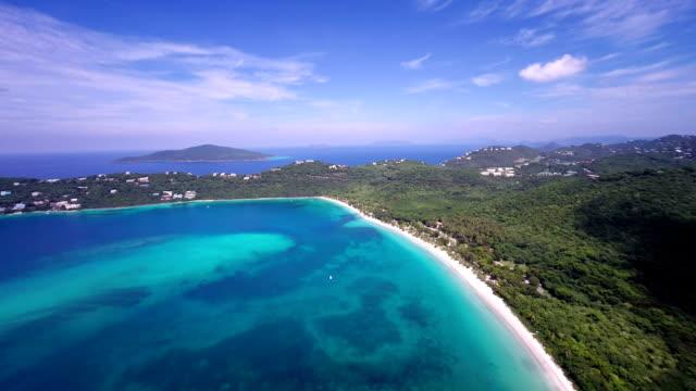 aerial video of Magens Bay, St.Thomas, US Virgin Islands video