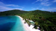 aerial video of Magens Bay, St.Thomas, US Virgin Islands video