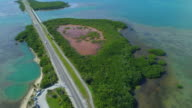 Aerial video of nature preserves in the Florida Keys video