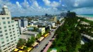 Aerial video of Ocean Drive Miami Beach video