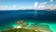 aerial video of Peace Hill and Denis Bay, St.John, USVI video