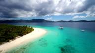 aerial video of Sandy Cay, British Virgin Islands video