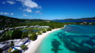 aerial video of Sapphire Bay, St.Thomas, US Virgin Islands video