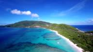 aerial video of Savannah Bay, Virgin Gorda, British Virgin Islands video