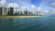 Aerial video of shores of Miami Beach video