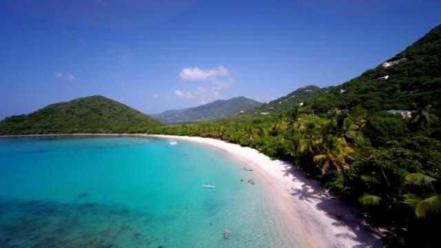 aerial video of Smuggler's Cove, Tortola, BVI video