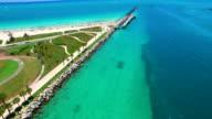 Aerial video of South Pointe Park Miami Beach video