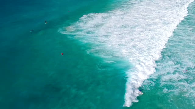 aerial video of surfers riding the waves in Tortola, BVI video