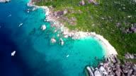 aerial video of The Baths and Devil's Bay, Virgin Gorda video