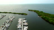 Aerial video of the Coconut Grove Marina video