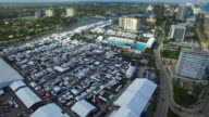 Aerial video of the Fort Lauderdale Boat Show video