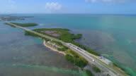 Aerial video of the Overseas Highway Florida Keys video