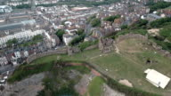 Aerial Video of Urban Cityscape and Castle video