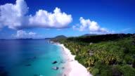 aerial video of Valley Trunk, Virgin Gorda, British Virgin Islands video