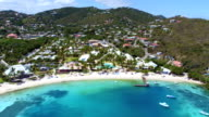 aerial video of  Water Bay, St.Thomas, US Virgin Islands video