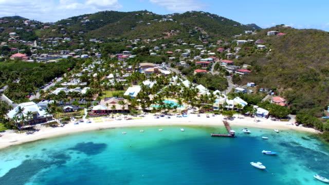 aerial video of  Water Bay, St.Thomas, US Virgin Islands video