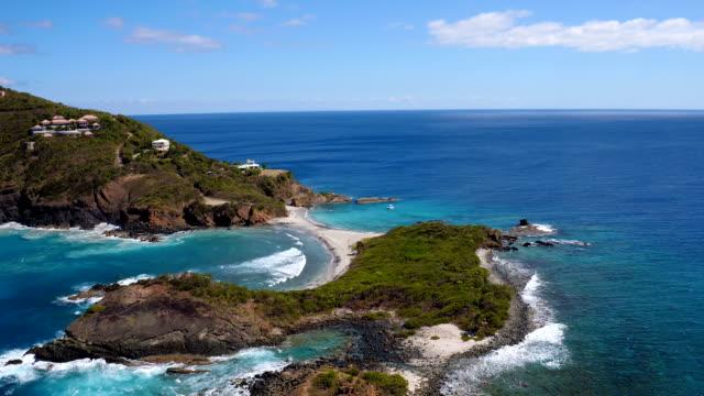 aerial video of West End of St.Thomas, US Virgin Islands video