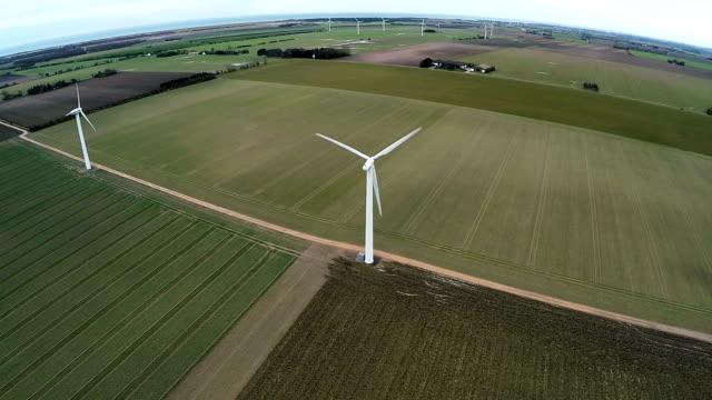 Aerial video of wind generator video