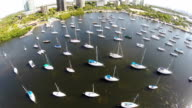 Aerial video sail boats video