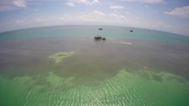 Aerial video Stiltsville Miami FL video