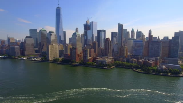 Aerial video tour of New York video
