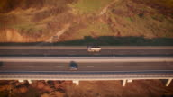 Aerial video with highway video